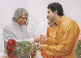 Harsh Narayan with former President of India Dr. AJP Abdul Kalam